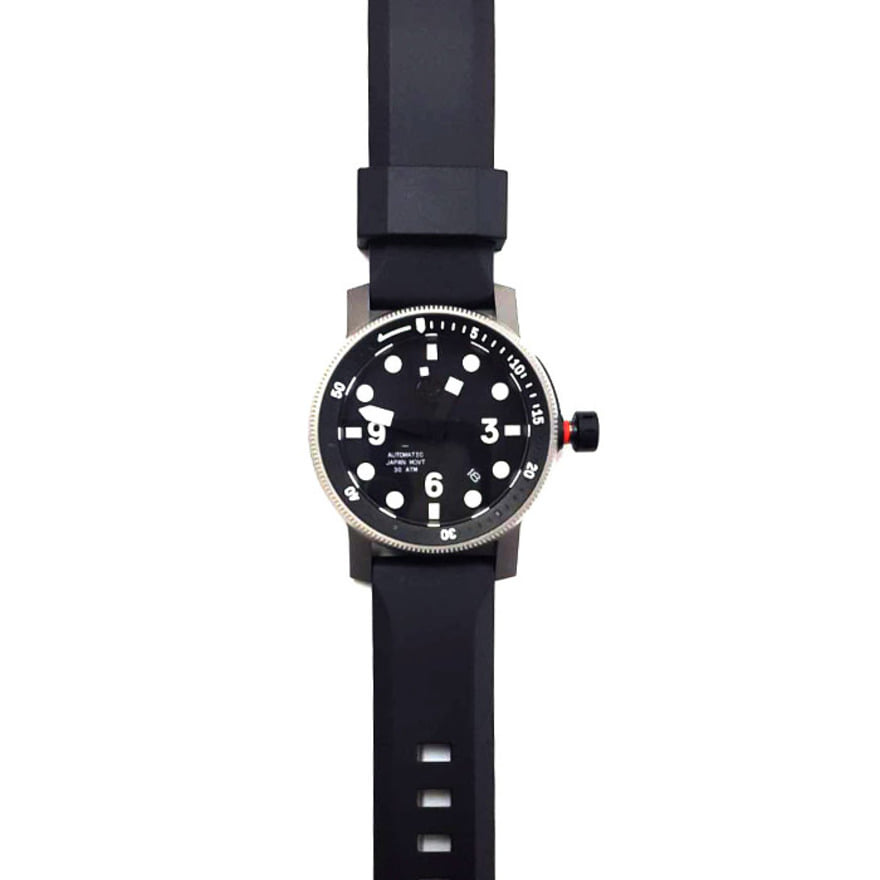MINUS-8,[Refurb] The Diver - Silver/Black Silicon